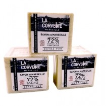 Lot de 3 cubes de Savon de Marseille naturel