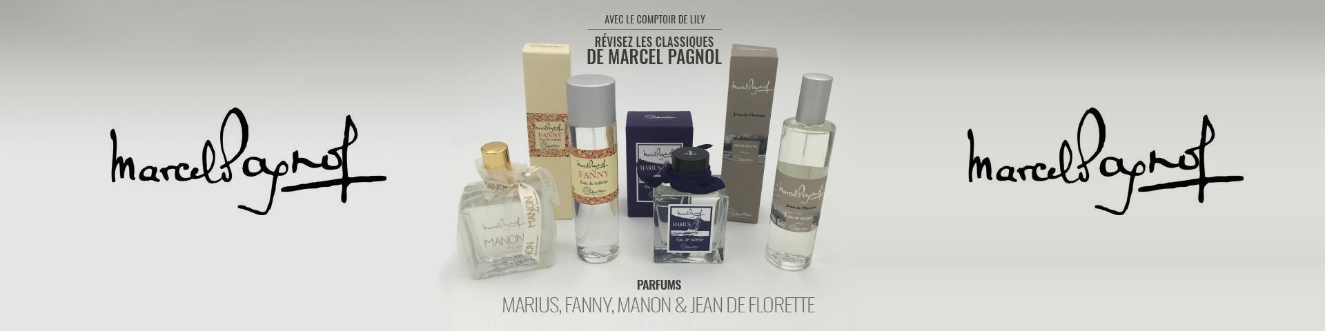 les parfums MARIUS, FANNY, MANON et JEAN de FLORETTE