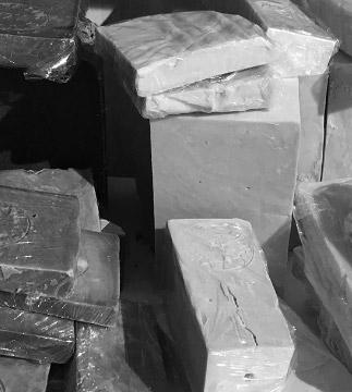 Fabrication savon de Marseille - cubes