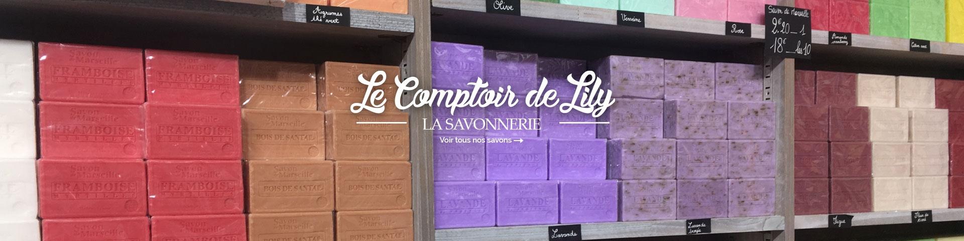 Tous les savons de la savonnerie Comptoir de Lily